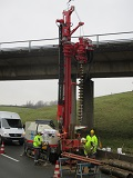 Soil investigation for the new A1 Rhine bridge.